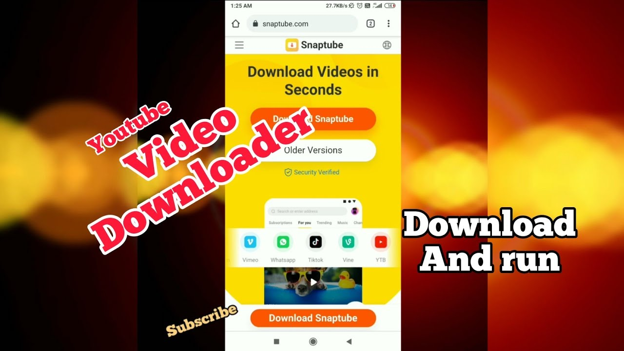 Download youtube video Downloader apk 2021 ( Download and Run )