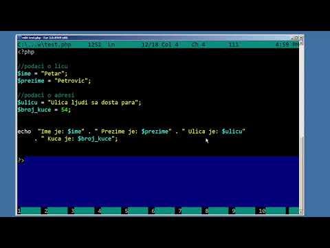 PHP Tutorijali - 5 - Echo, Print I HTML Ubacivanje