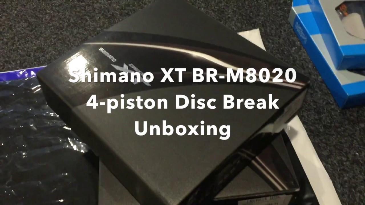 Shimano XT BR-M8020 4-pot Disc Brake Unboxing