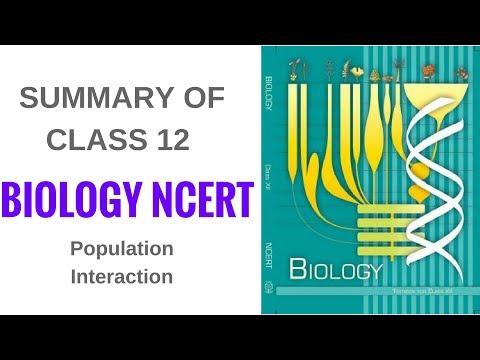 Summary of Biology NCERT Class 12- Population Interaction thumbnail