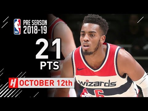 Troy Brown Jr. Full Highlights Wizards vs Guangzhou 2018.10.12 - 21 Points, 8 Reb