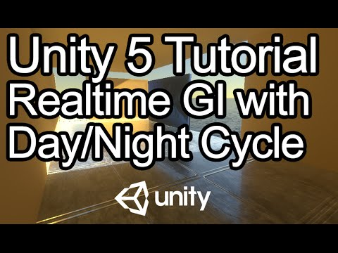 Unity 5 Tutorial - Realtime Global Illumination, Day/Night Cycle, Reflection Probes