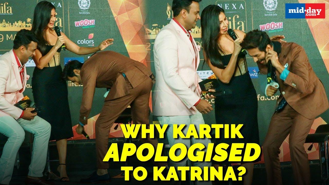 Here's why Kartik Aryan apologised to Katrina Kaif at the IIFA press meet