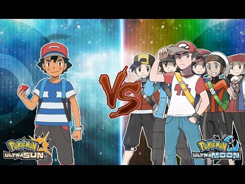 Pokemon Ultra Sun and Ultra Moon: Ash Vs Red (and all main Characters)