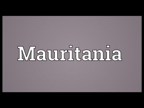 Mauritania Meaning