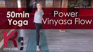 50 minute Yoga Power Vinyasa Routine (Intermediate)