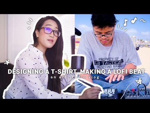 Designing A T-Shirt And Making Lofi Beats At The Beach l Life After Disney Art Studio Vlog 027