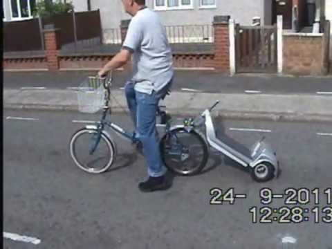 Electric Scooter Bike Pusher With Details Youtube