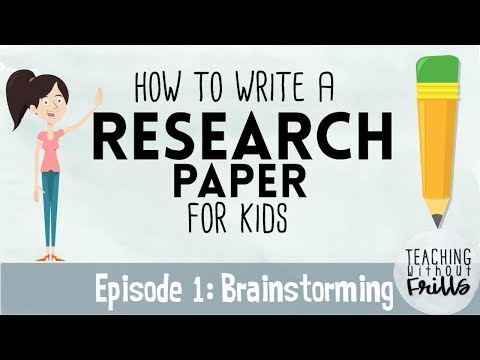 How To Write A Research Paper For Kids | Episode 1 | Brainstorming Topics