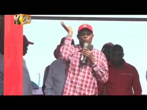 Jubilee lobby group tours Kirinyaga County campaigning the re-election of the Jubilee Gov't