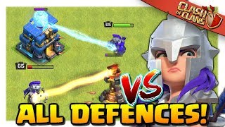 MAX Lvl 65 Archer Queen vs ALL DEFENCES | Clash of Clans Update!