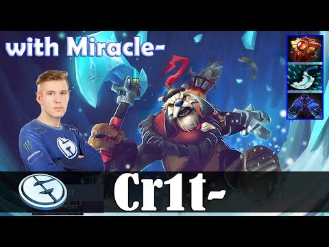 Crit - Tusk Roaming   with Miracle- (AM)   Dota 2 Pro MMR Gameplay