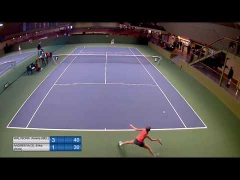 U14 Cat. 1 Stockholm - R3 - Amelia Waligora (BEL) vs. (2)Erika Andreeva (RUS)