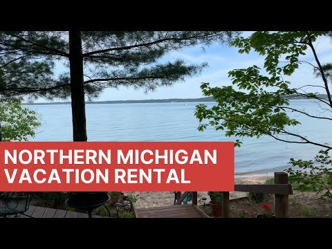 Vacation Rental Near Traverse City -- Cabin On East Bay In Northern Michigan For Rent