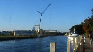 Downtown Cheboygan Footbridge Construction