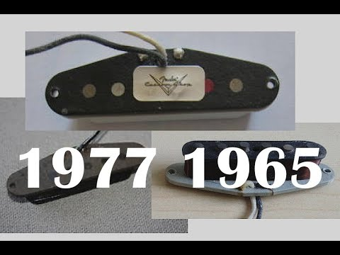 Fender 1965, 1977 and Texas Special Pickup Comparison #1