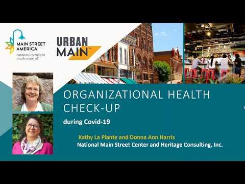 COVID 19 & Main Street: Organizational Health Check Up
