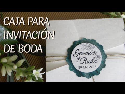 Sobre caja para invitaci n de boda youtube - Cosas para preparar una boda ...