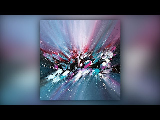 Colorful Abstract Painting / Acrylic Paint / Palette Knife Technique / Demo #042