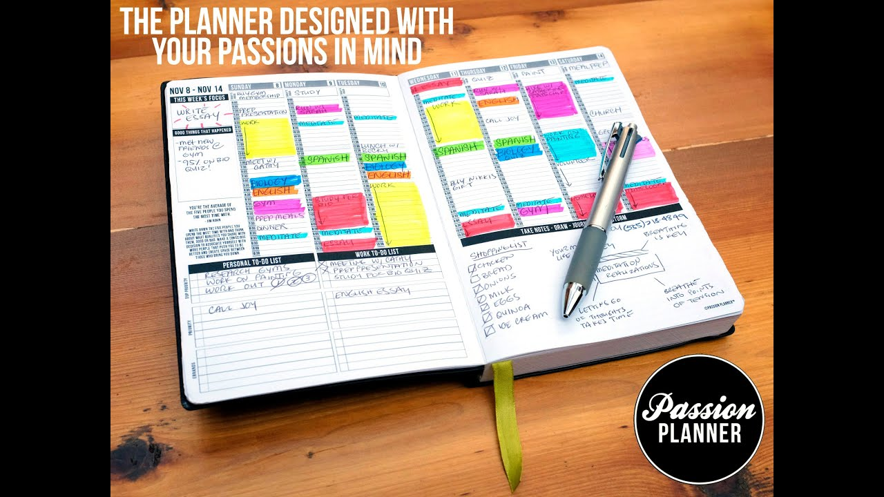 Passion planner by angelia trinidad kickstarter video for Time design planner