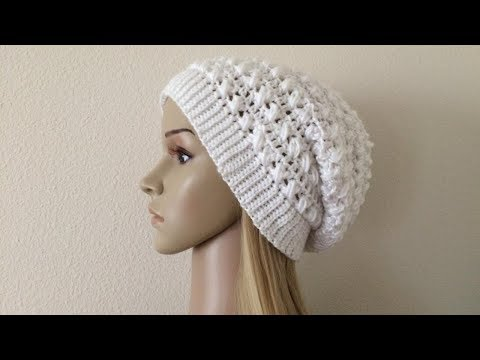 How To Crochet A Slouchy Hat, Lilu's Handmade Corner Video # 200
