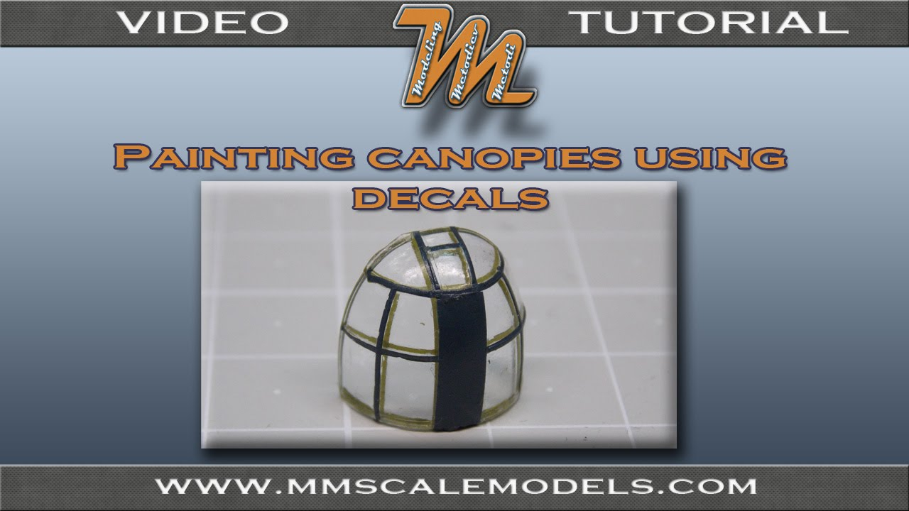Painting scale model canopy frames using decals. & Painting scale model canopy frames using decals. - YouTube