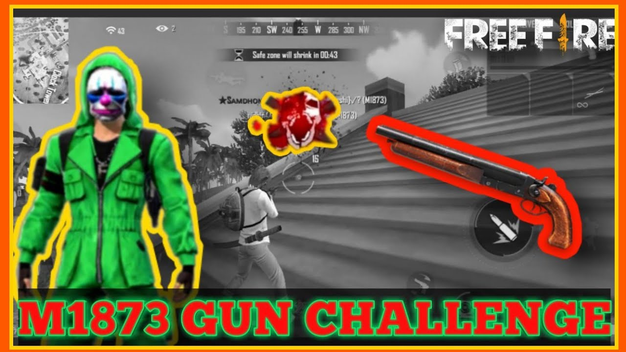 M1873 Gun Challenge || with 8 kill booyah || we will win or lose 🤩 🤩