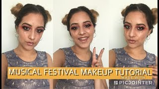 GLITTER TEARS AND MAGNETIC LASHES - MUSIC FESTIVAL MAKEUP TUTORIAL | SAMIAMBEAUTY