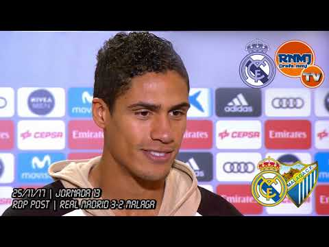 Declaraciones de VARANE post Real Madrid 3-2 Málaga (25/11/2017)