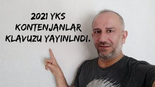 #2021yks Kontenjan Klavuzu Yayınlamdı