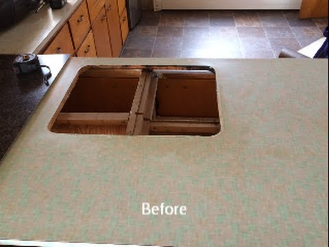 How To Install Laminate Countertops This Old Farm House Kitchen Remodel Cheap Youtube