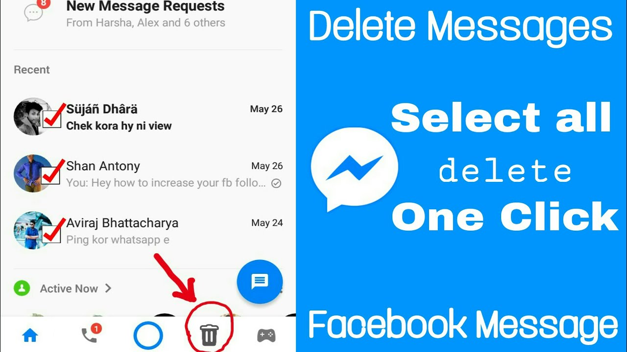 DELETE ALL FACEBOOK MESSAGES in One CLICK | Delete Multiply (hindi 2017)