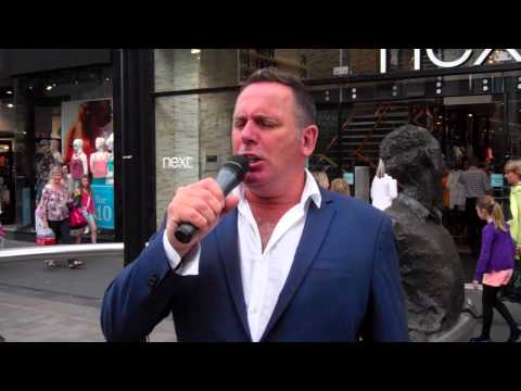 Opera Singer Singing Nessun Dorma High Street Perth Perthshire Scotland