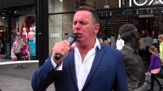 Opera Singer Singing Nessun Dorma High Street Perth Perthshire Scotland