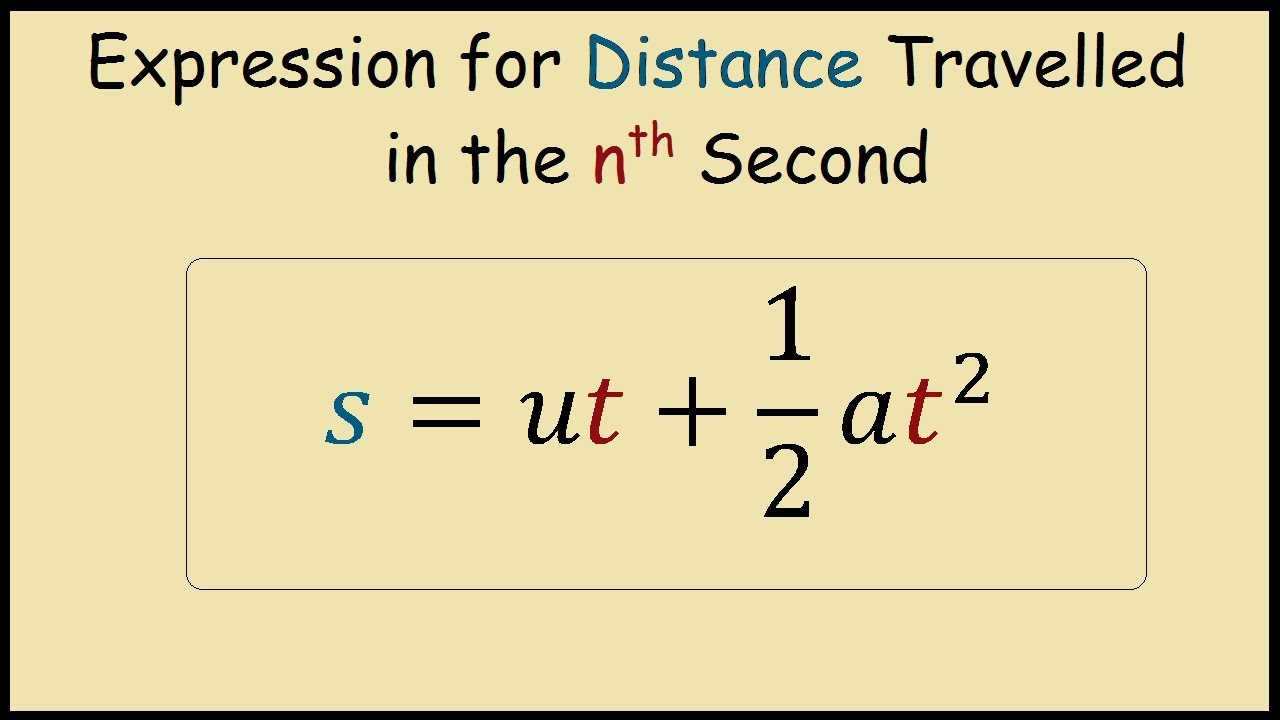 Expression For Distance Travelled In The Nth Second For A