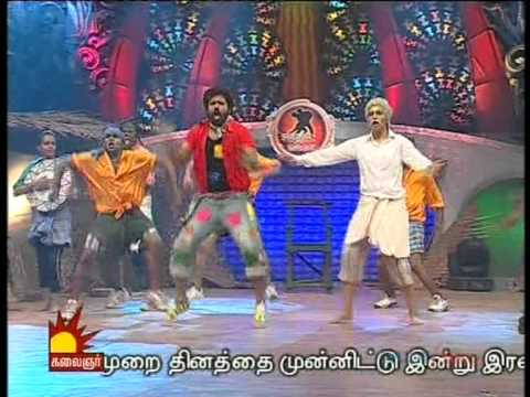 vishwaa mm4 folk round with nivas krithika ,,,,,,, sandy bai choreo