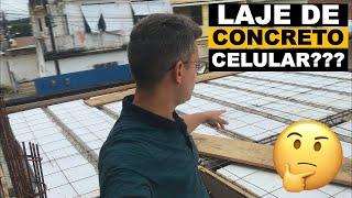 Posso construir a laje com concreto celular?