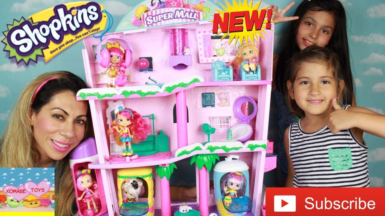 Brand New Shopkins Shoppies Shopville Super Mall Playset New In Box