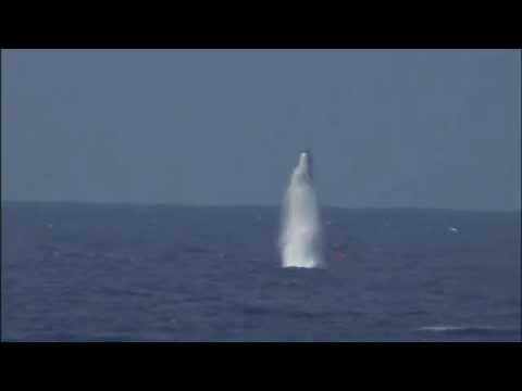 USS West Virginia test-firing Trident II SLBMs
