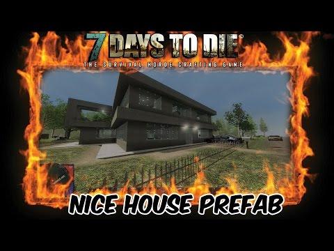 7 Days To Die Custom Prefab Modern Nice House Mod. Download Link In Description!