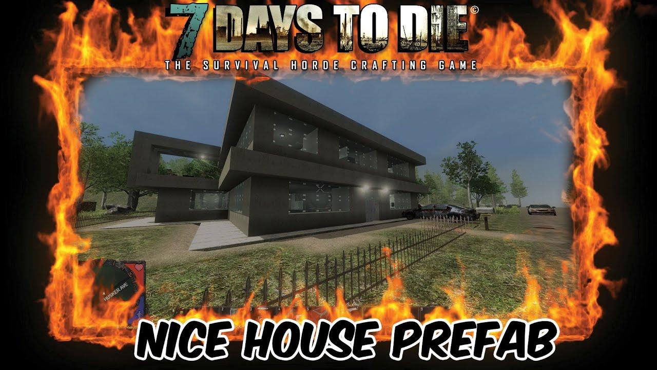 7 Days To Die Custom Prefab Modern Nice House Mod Download Link