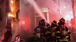 **First Due Arrival** [ Manhattan 3rd Alarm Box 1147 ] Heavy Fire Throughout a 3 Story - 85th Street
