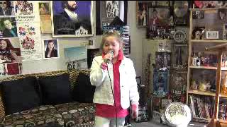Donnah Lisa Campbell 9 year old small town girl with BIG voice sings Let