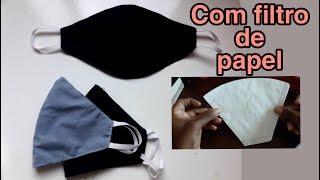 Como Fazer Mascara de Proteção Usando Filtro de Papel Como Molde
