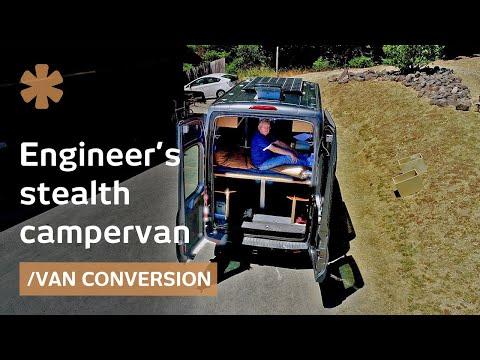 Retired engineer builds transforming, off-grid, stealth campervan