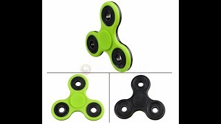 Unboxing green and black fidget spinner