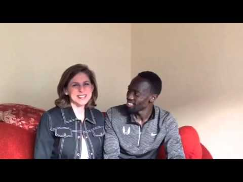 An unlikely mentor! 4word founder Diane Paddison chats with Olympian Lopez Lomong