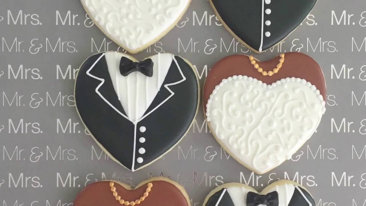 wedding theme cookie decorating