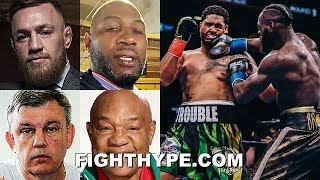 CONOR MCGREGOR, LENNOX LEWIS, TEDDY ATLAS & MORE REACT TO WILDER KNOCKING OUT BREAZEALE