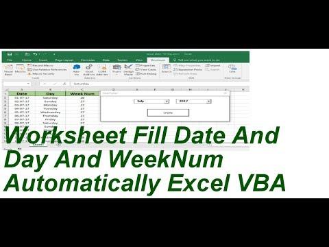 Excel vba convert week number to date